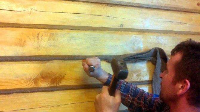 Как правильно конопатить сруб джутом, паклей или мхом: видео