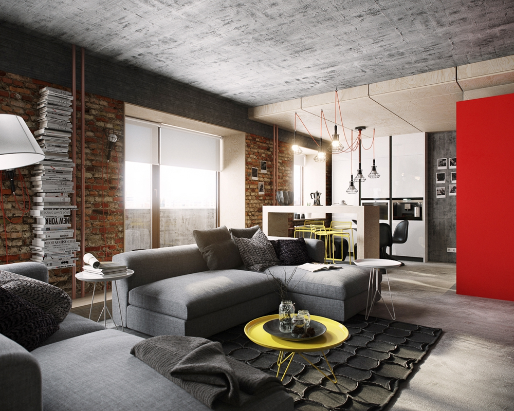Лофт в маленькой квартире: интерьер и дизайн для малогабаритных помещений фото