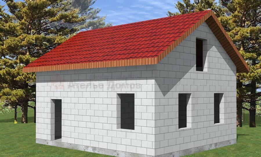 Одноэтажные дома из пеноблоков – самое недорогое жилье