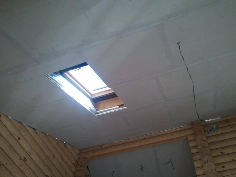 Установка потолка из гипсокартона на деревянном потолке видео