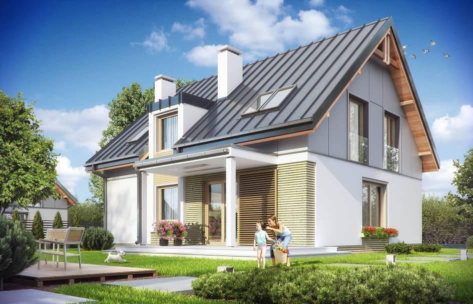 Проекты домов с мансардой и гаражом (53 фото): идеи для площади в 150 кв. м, отделка мансардных коттеджей пеноблоками, как уместить все под одной крышей