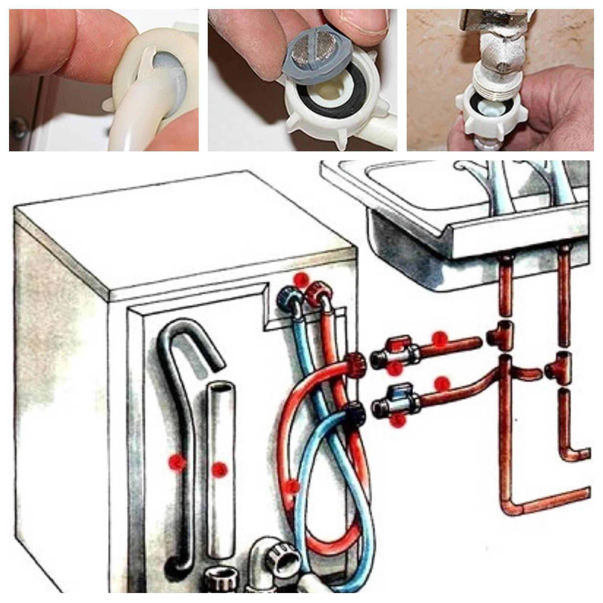 Подключение стиральной машины к водопроводу и канализации: как правильно подсоединить слив, зачем нужен шаровой кран и тройник