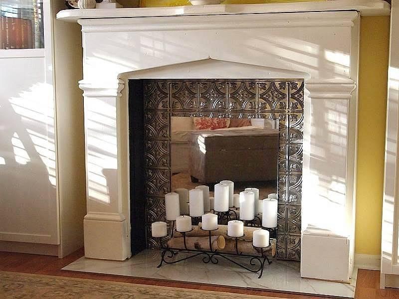 Декоративный камин из гипсокартона своими руками +50 фото