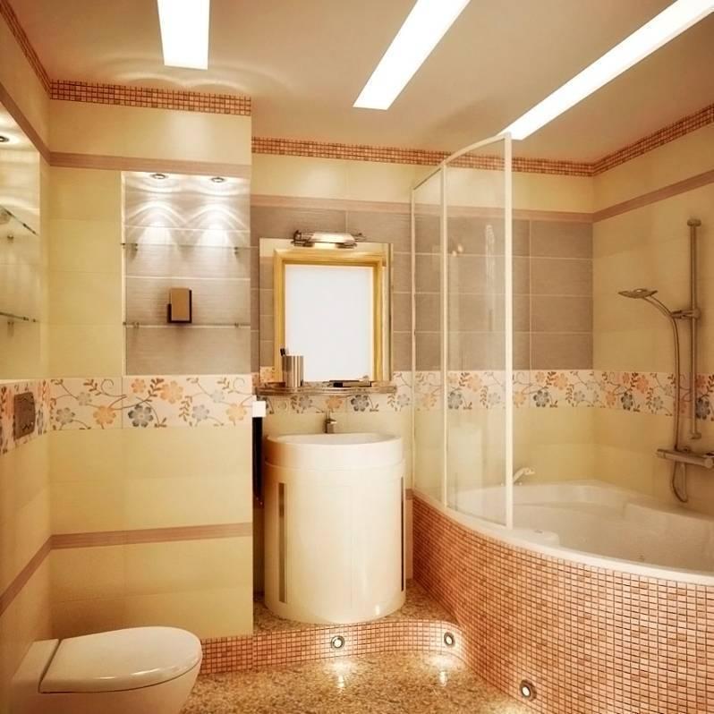 Дизайн ванных комнат — облицовка плиткой