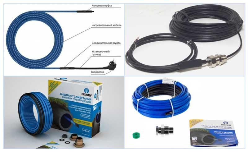 Подключение греющего кабеля для водопровода