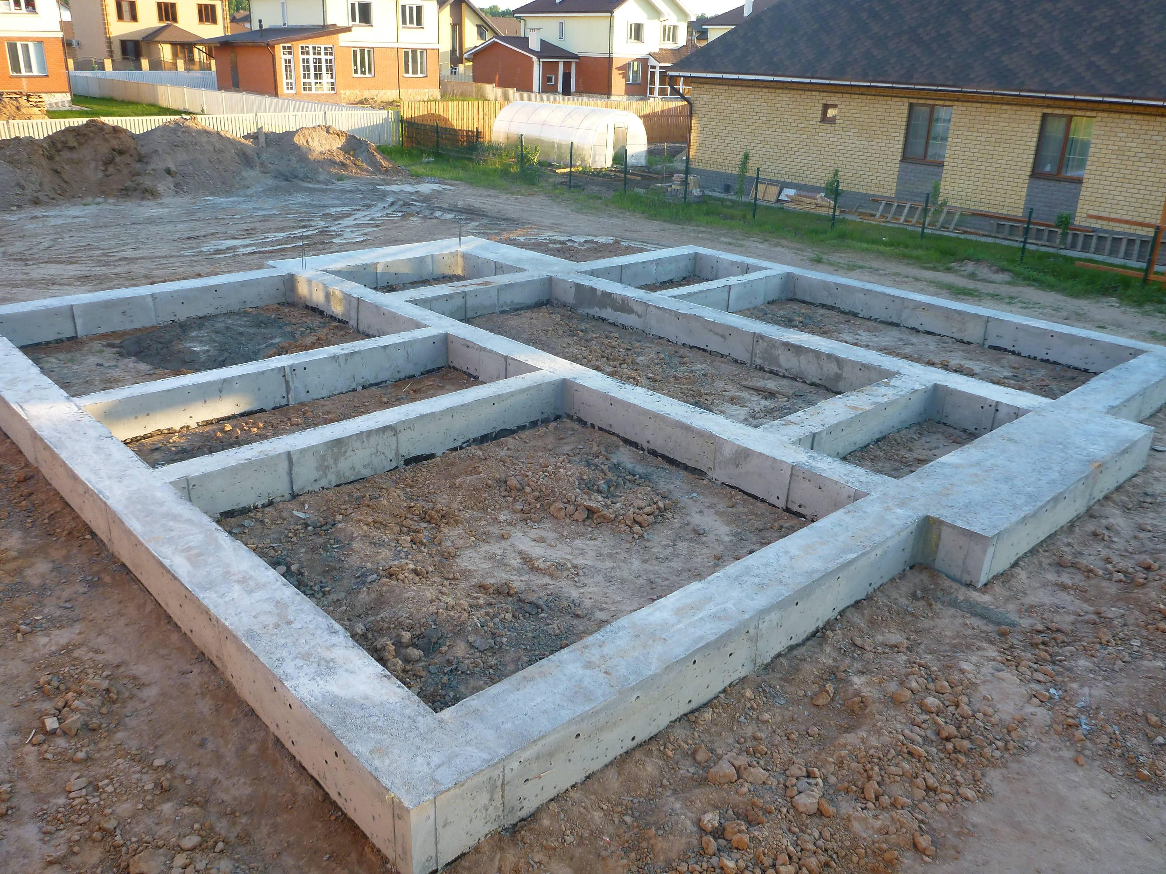 Виды фундаментов для частного дома - клуб мастеров
