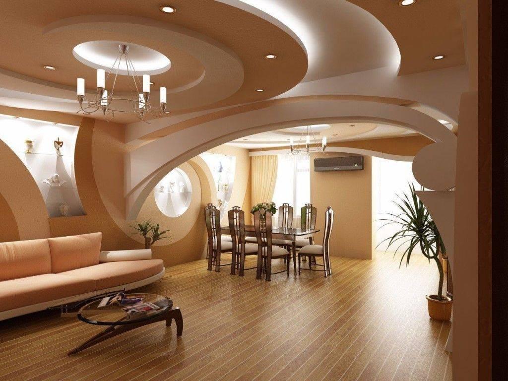 Потолок из гипсокартона - 80 фото изюминки дизайна современной квартиры