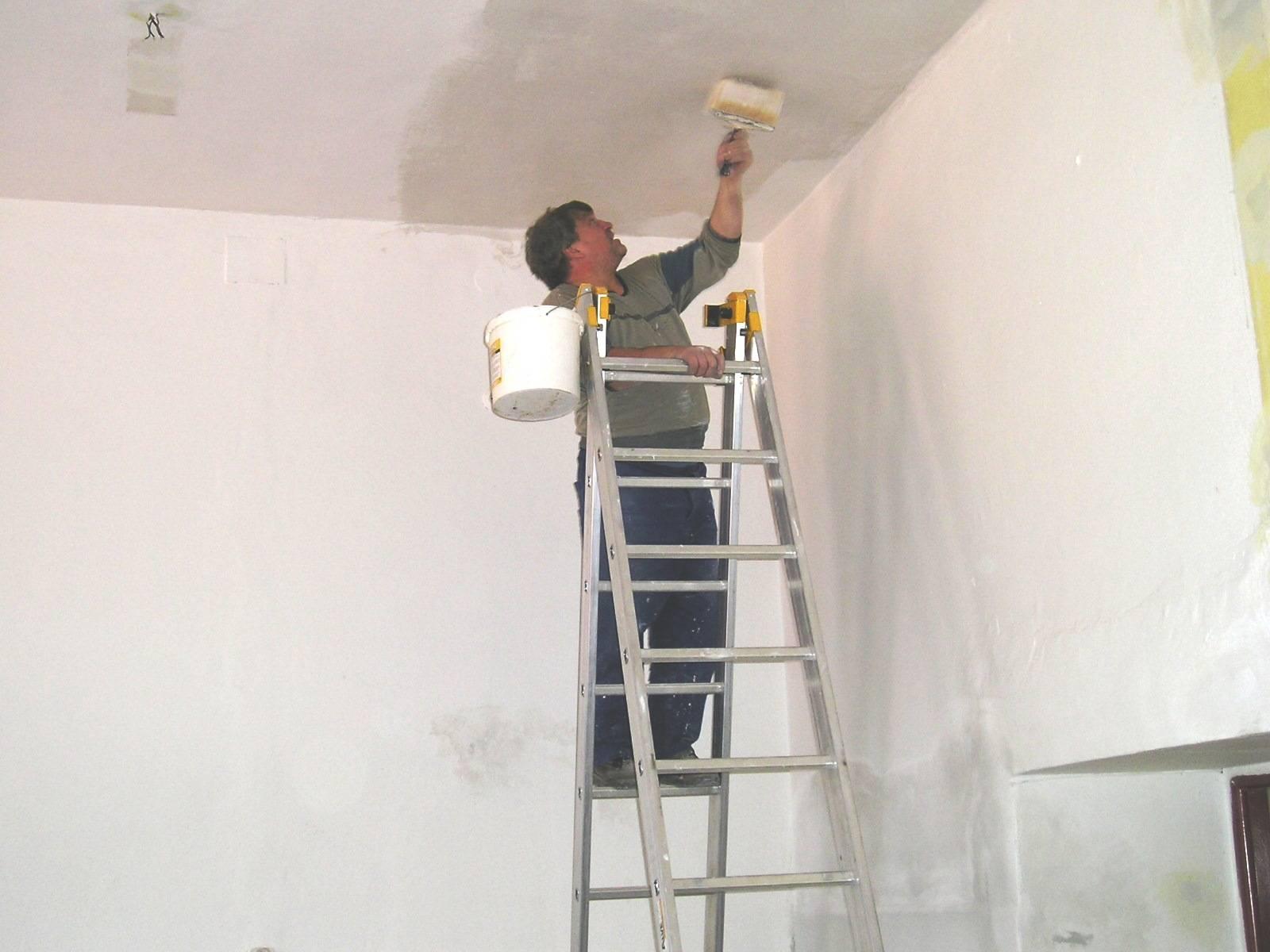 Нужно ли грунтовать потолок из гипсокартона перед покраской
