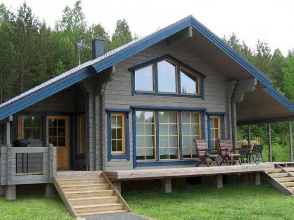 Обзор финской технологии теплый дом из двойного бруса
