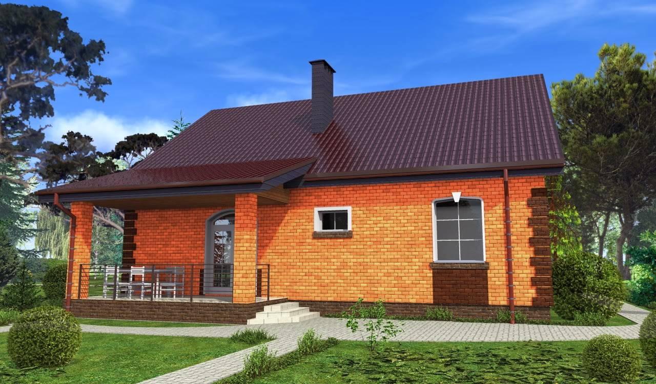 Варианты проекта одноэтажного дома из кирпича