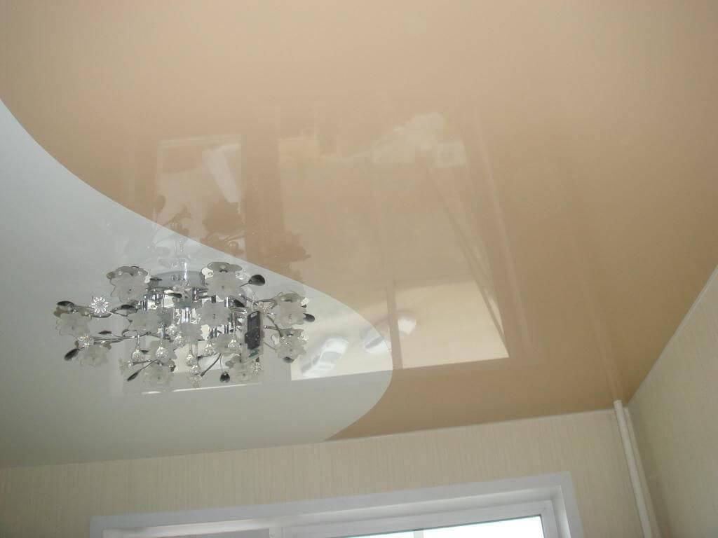 Потолок натяжной двухцветный: фото спайки двух цветов, комбинирование и варианты, 2 станка двухцветный натяжной потолок: 4 главных особенности – дизайн интерьера и ремонт квартиры своими руками