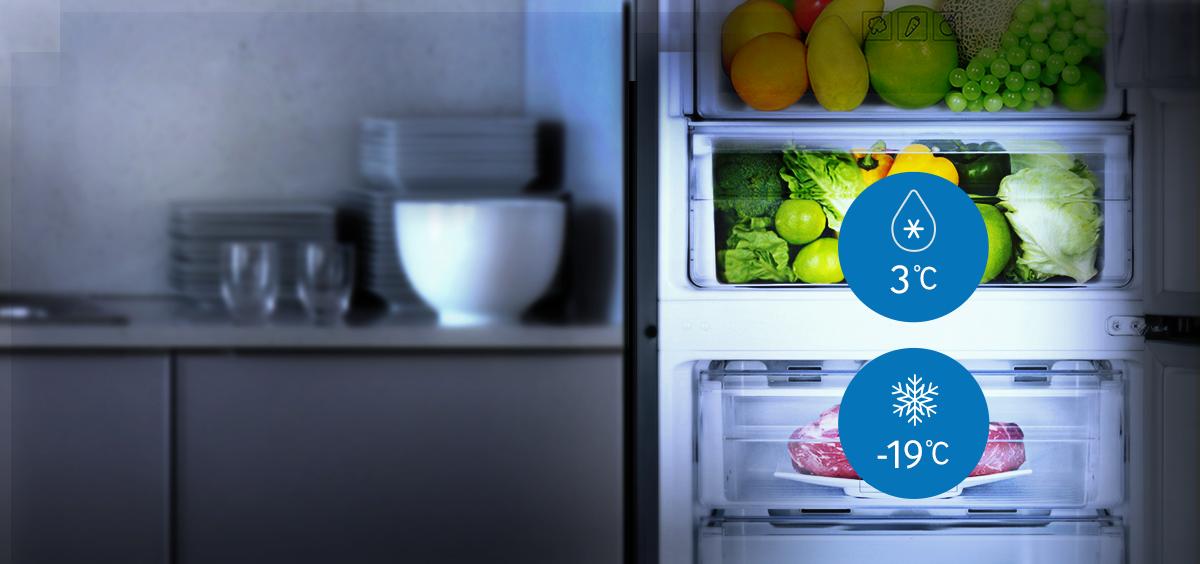 Какая должна быть и как настроить температуру в холодильнике и морозильной камере lg