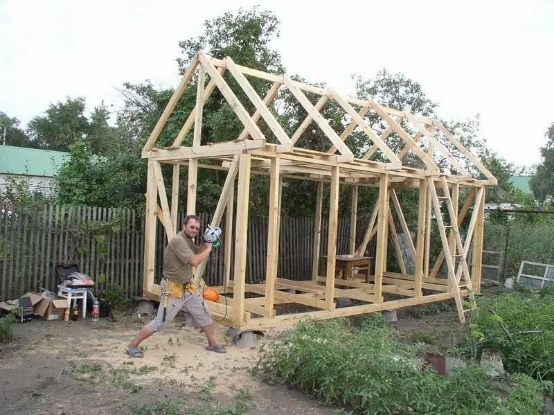Строительство дачного дома из бруса своими руками