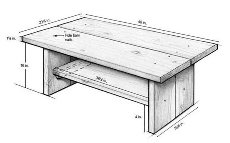 Стол для дачи деревянный, уличный – своими руками: чертежи и схемы, фото