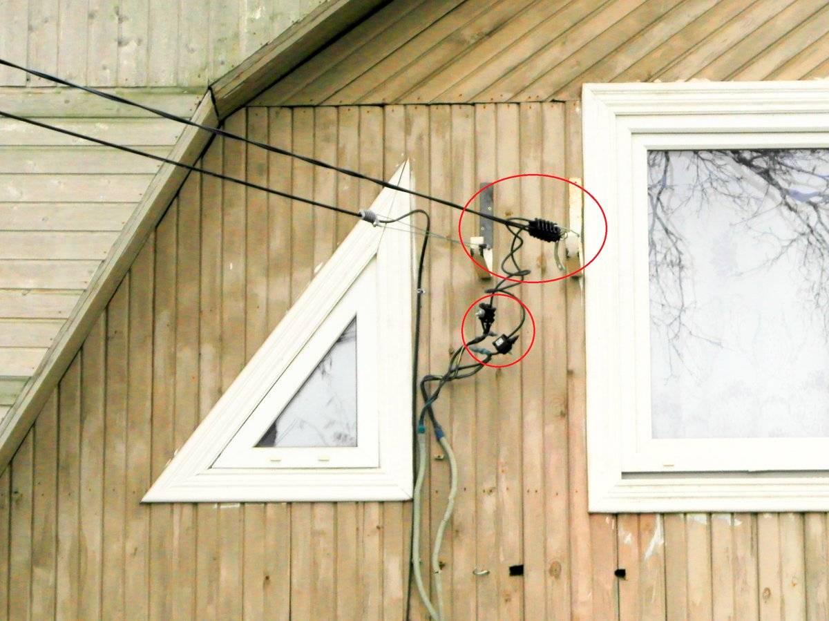 Подключение электричества к дому от столба