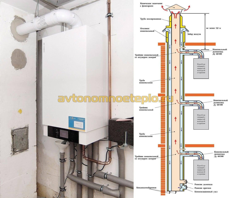 Дымоход для газового котла в частном доме — требования к монтажу