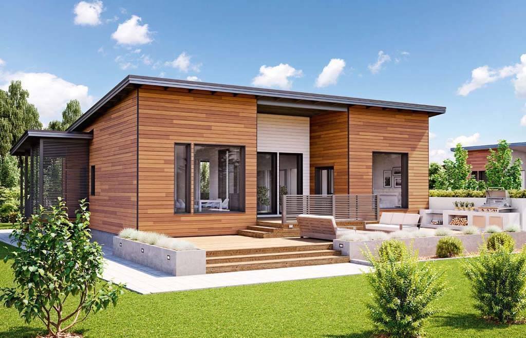 ????23 красивых проекта домов с односкатной крышей + видео - блог о строительстве