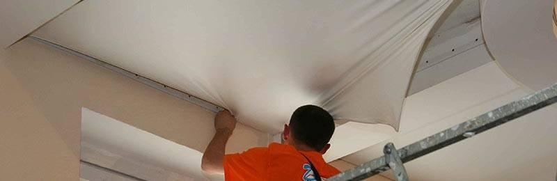 Снимаем натяжной потолок своими руками без проблем