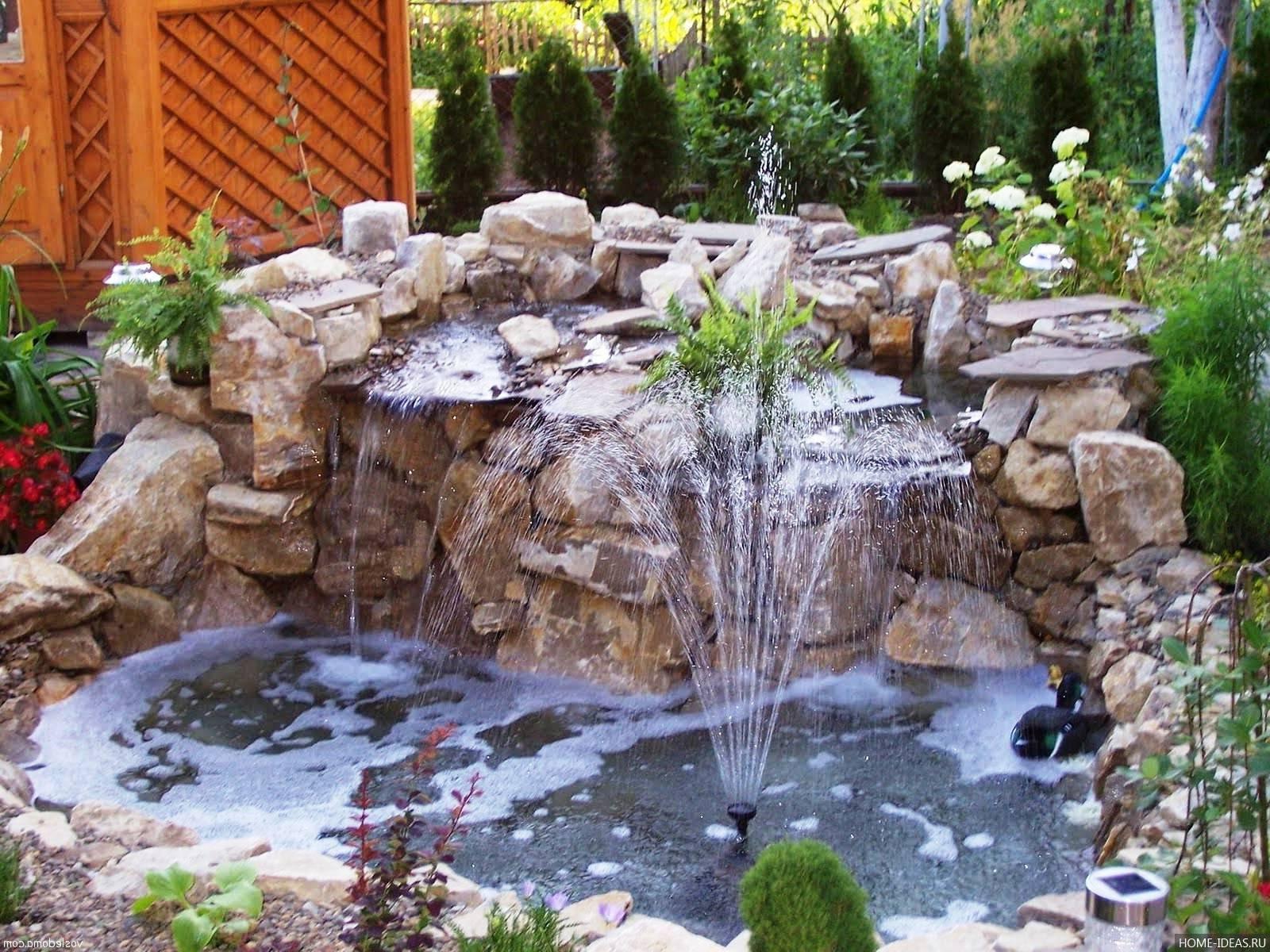 Водопад на даче своими руками: пошаговая инструкция по возведению (фото)