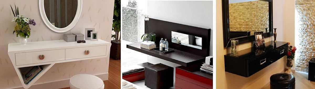Туалетный столик, размеры, разновидности форм и конструкций