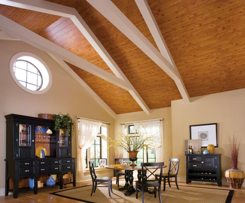Чем отделать потолок в частном доме бюджетный вариант