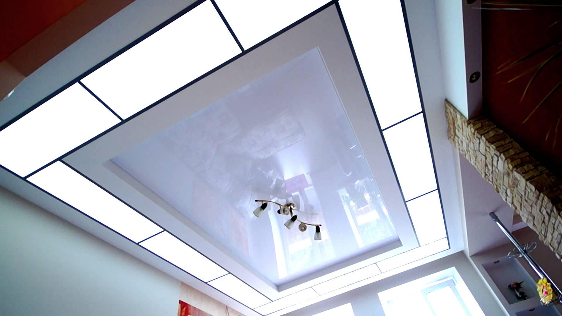 Стеклянный потолок с подсветкой: используемые материалы и варианты крепления