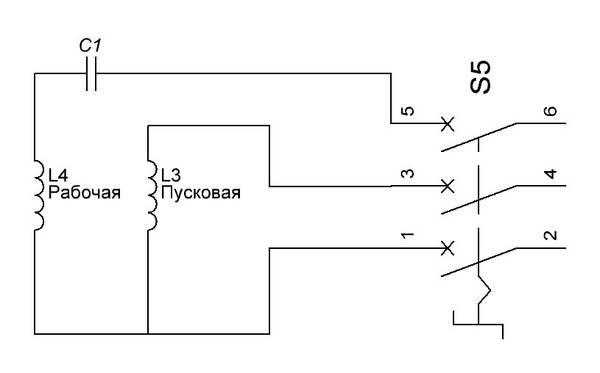 Однофазные электродвигатели 220в схемы подключения