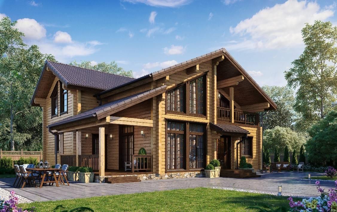 Селигер - строительство дома из бруса за 3980479руб под ключ   русский стиль