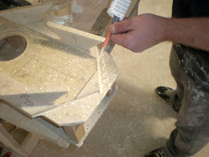 Столешница из искусственного камня – как правильно выбрать, сделать своими руками, установить и ухаживать?