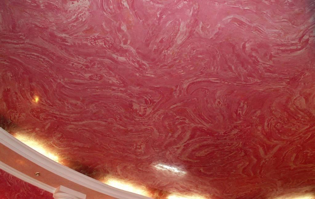 Декоративная штукатурка на потолок своими руками: преимущества