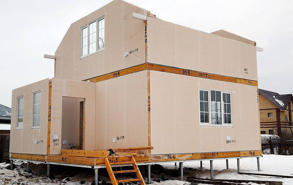 Каркасно-панельные дома: технологии строительства