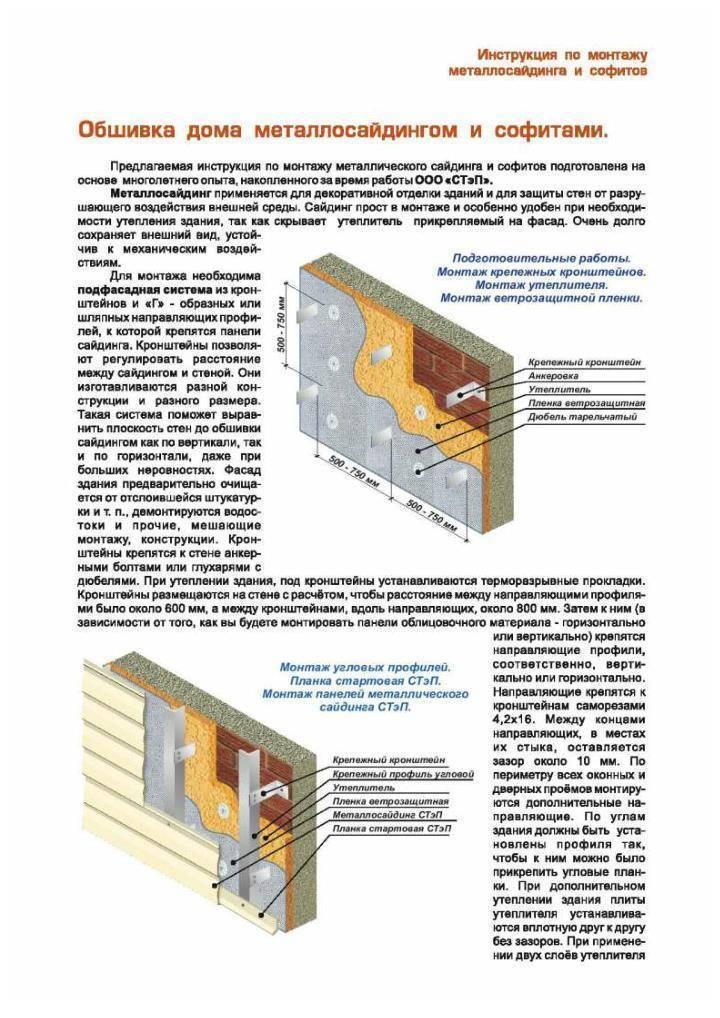 Монтаж металлосайдинга своими руками: пошаговая инструкция, технология, видео