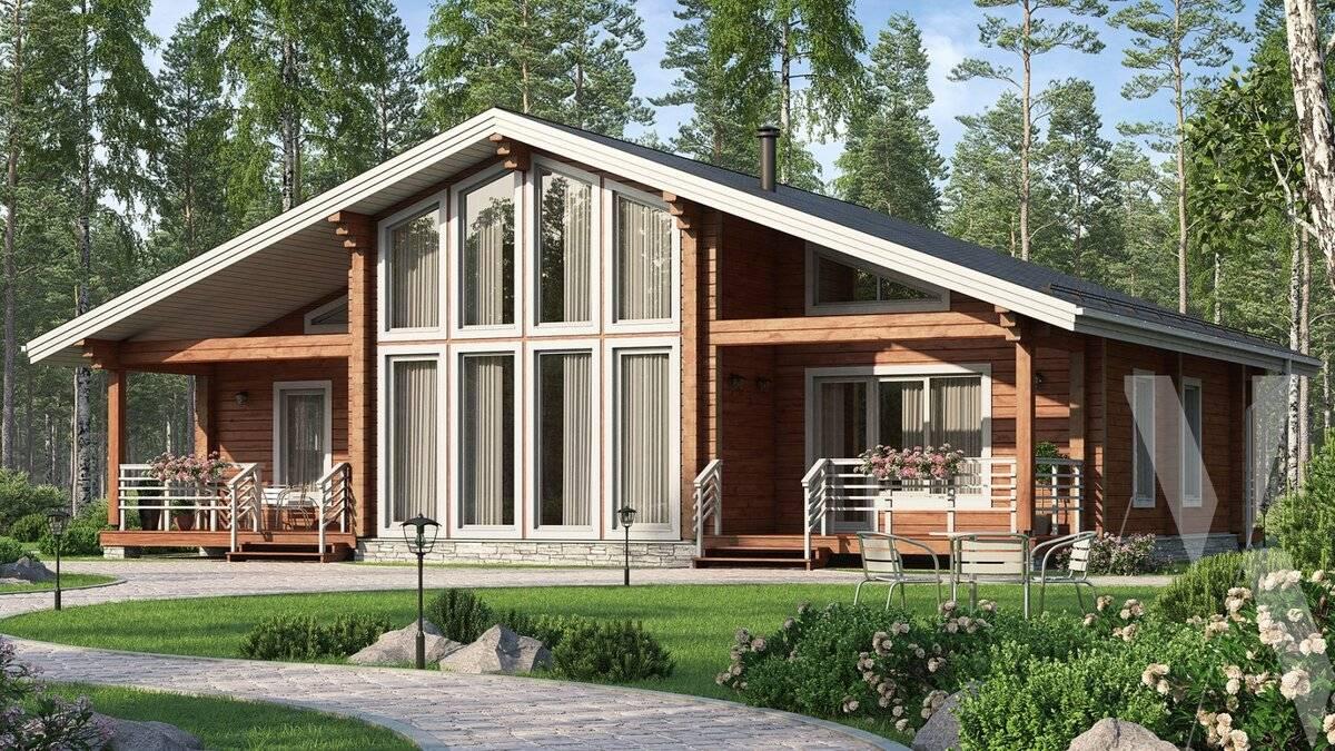 Проекты финских домов и одноэтажных коттеджей из бруса
