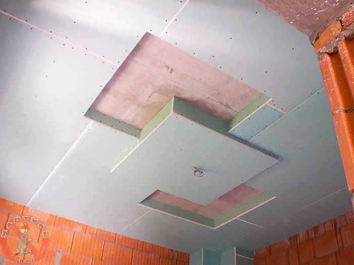 Потолок в ванной из гипсокартона (38 фото): можно ли делать в ванной комнате гипсокартонный подвесной потолок? плюсы и минусы использования