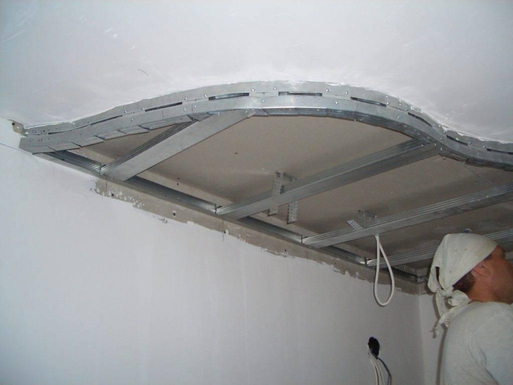 Двухуровневый потолок из гипсокартона с подсветкой своими руками: пошаговая инструкция