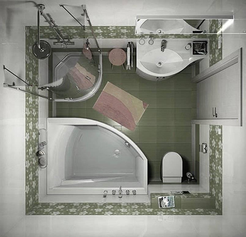 Лучшие идеи дизайна ванной комнаты 3 кв. м. — интерьер на фото от ivd.ru