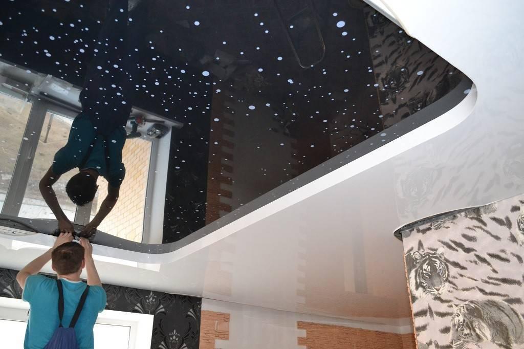 Как самостоятельно делают натяжные потолки