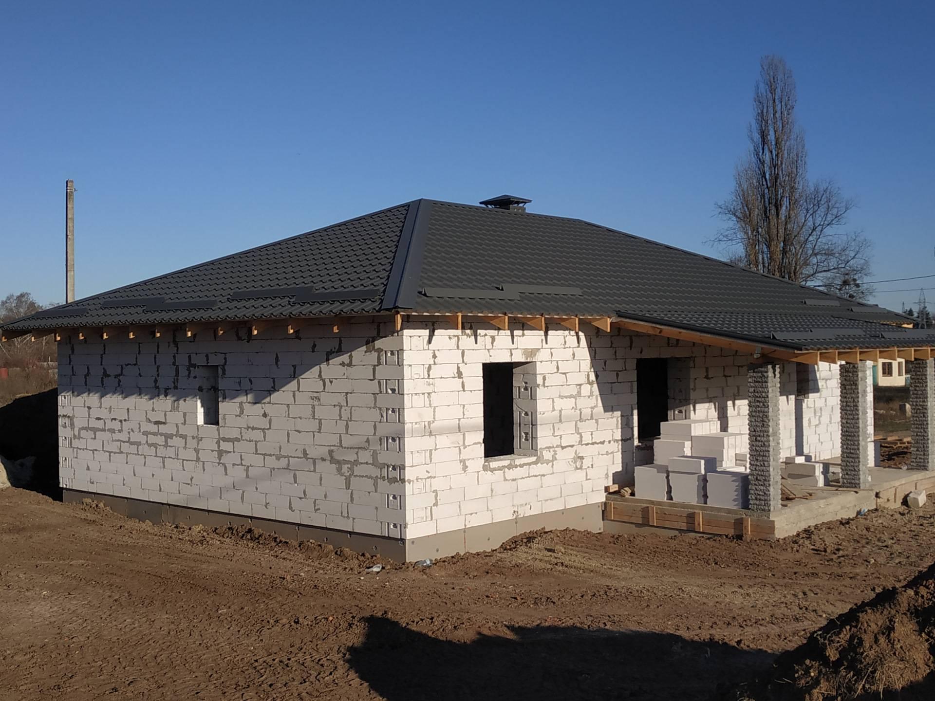 Проекты одноэтажных домов из пеноблоков с планировкой