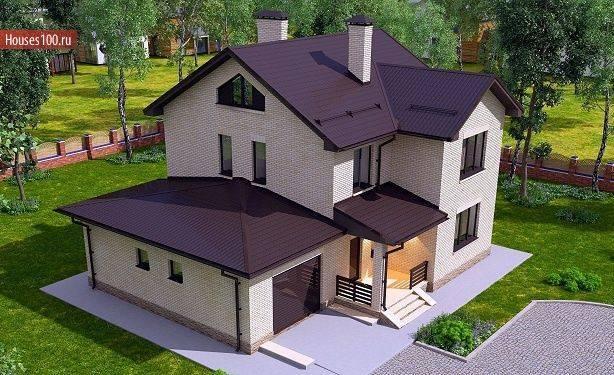 Фото проектов двухэтажных домов и коттеджей