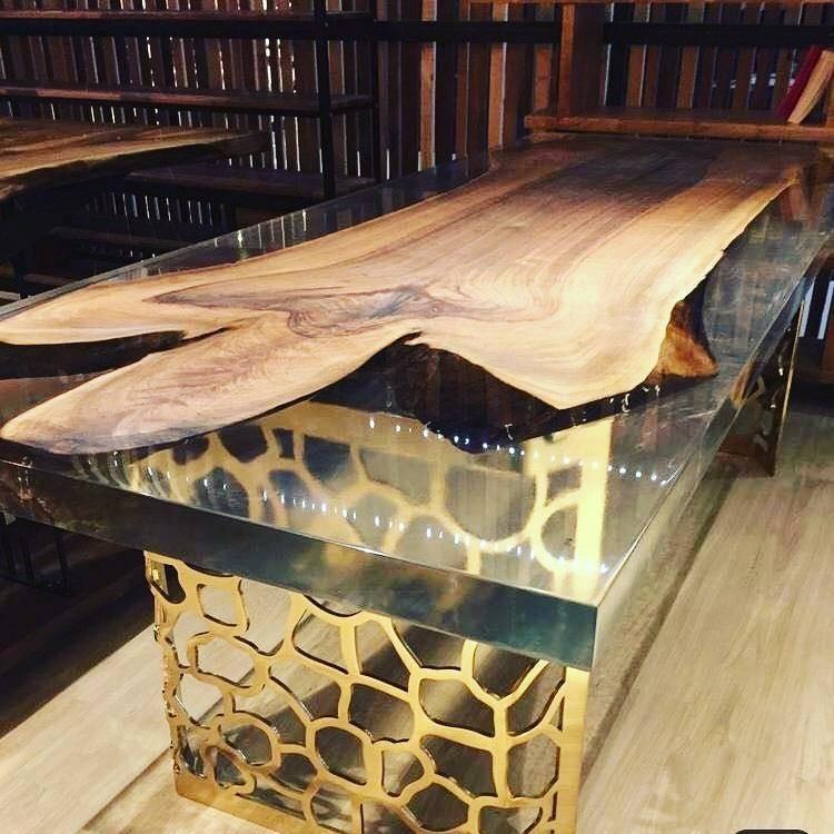 Эпоксидный стол своими руками - пошаговый мастер-класс от заливки до финишной обработки (110 фото)