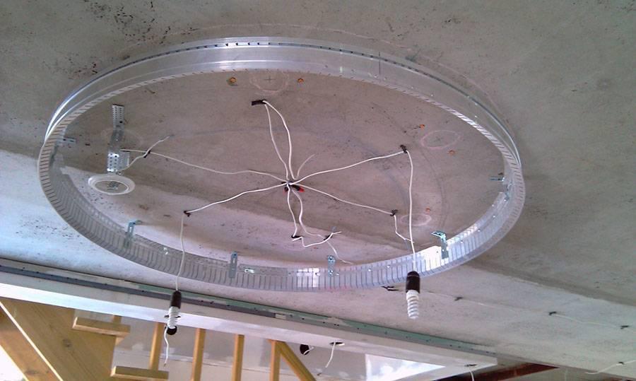 Двухуровневые натяжные потолки: устройство, виды, установка