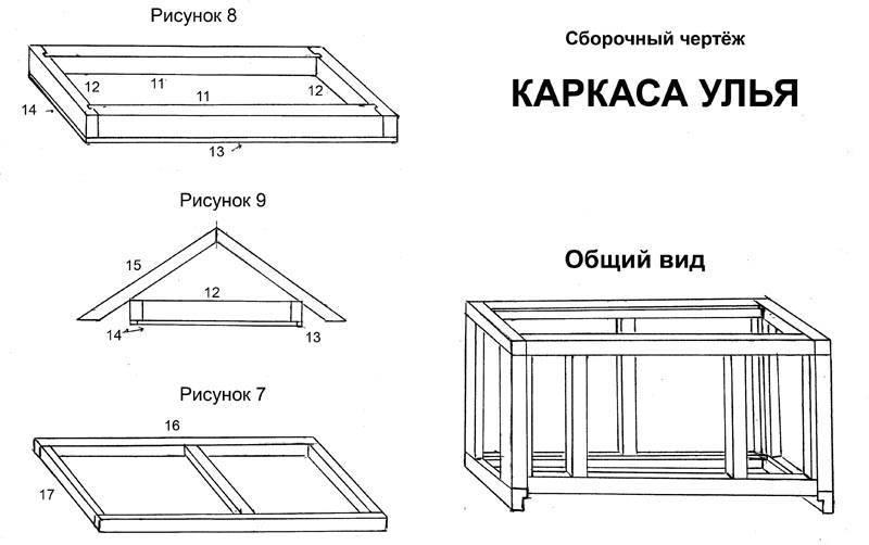 Как сделать ульи для пчел своими руками в домашних условиях: пошаговая инструкция с чертежами и размерами