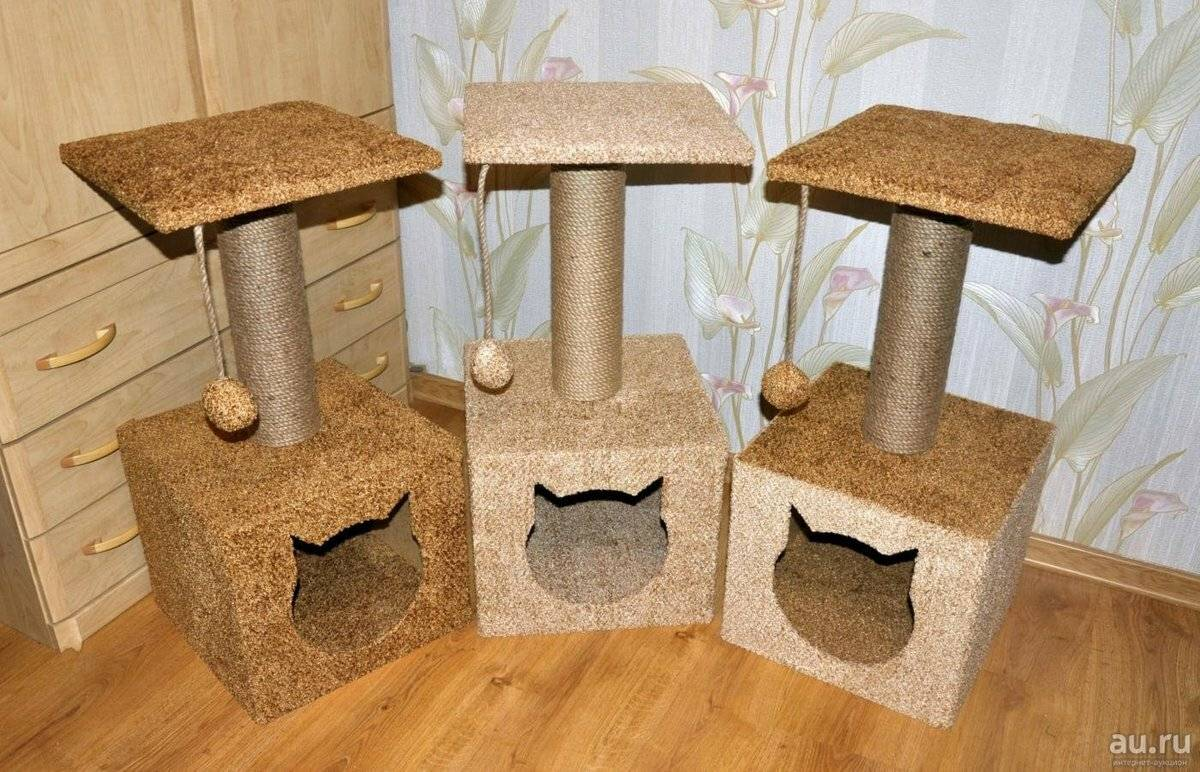Домик для кошки своими руками: как сделать уголок для питомца из дерева, фанеры или картона?