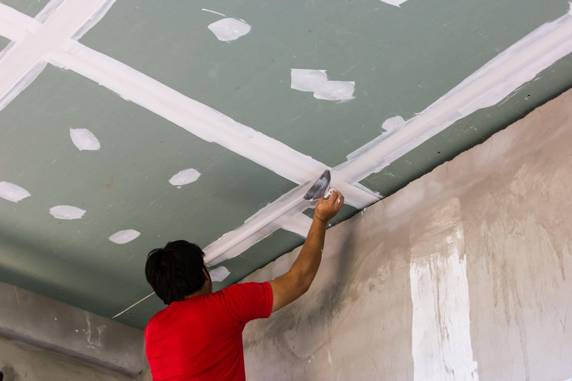 Нужно ли штукатурить гипсокартон под покраску потолок