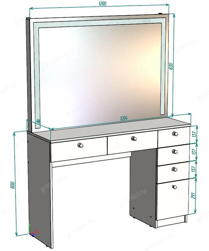 Туалетный столик (85 фото): будуарный стол с зеркалом для макияжа и трюмо, их высота и размеры, подвесные и напольные варианты в современном стиле