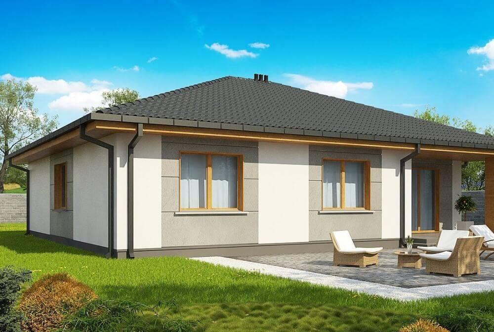 Проекты одноэтажных домов из пеноблоков: особенности и фото-примеры