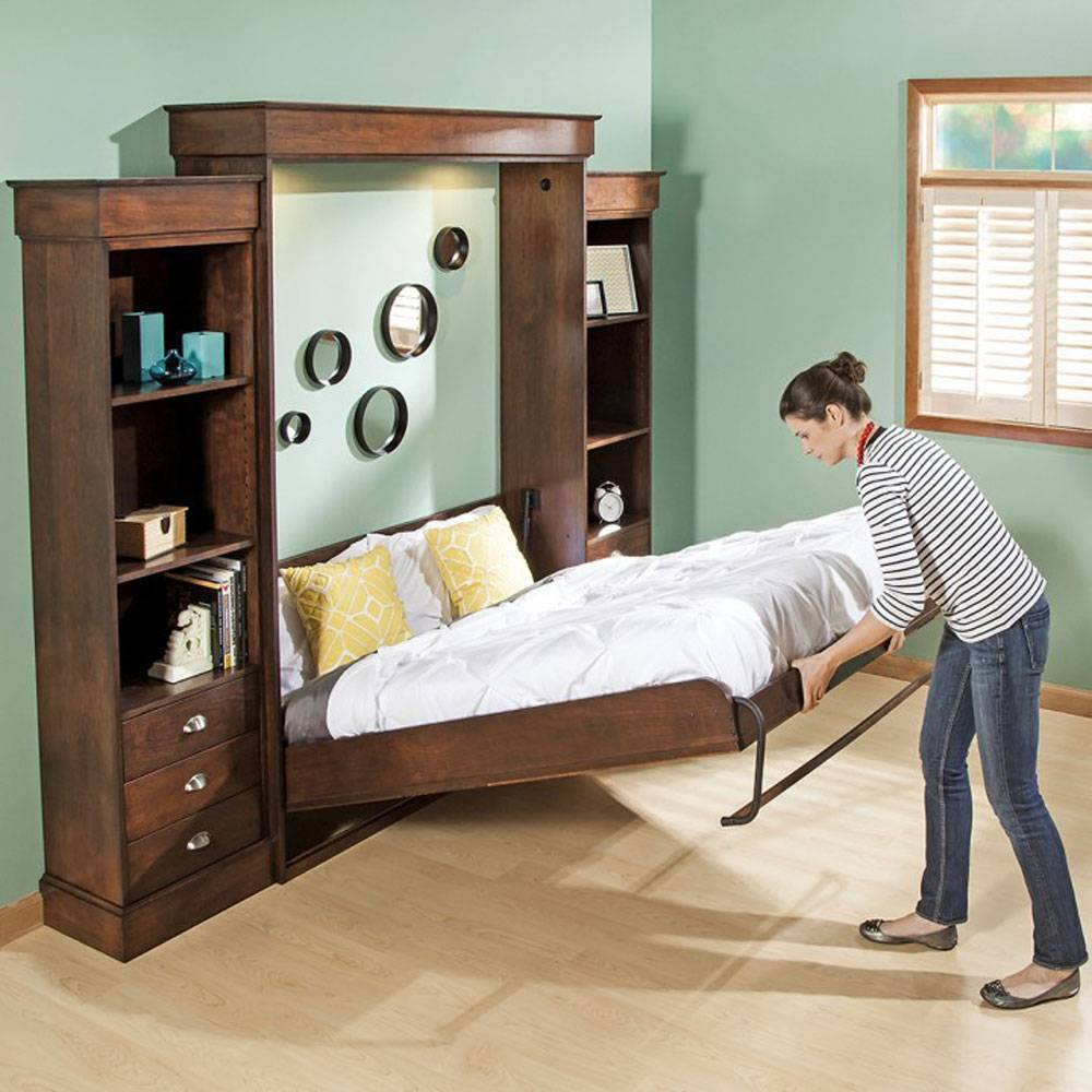 Многофункциональная мебель трансформер для малогабаритных квартир. трансформируемая мебель (35 фото). кровать-шкаф превращаем в диван