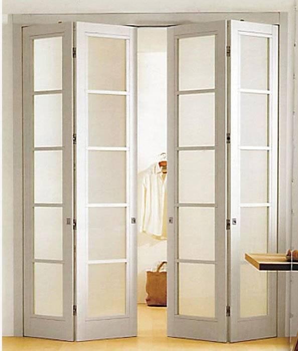 Установки и монтаж двери-гармошки своими руками: пошаговая инструкция