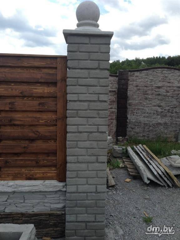 Как сделать бетонные столбы для забора своими руками | «mz»