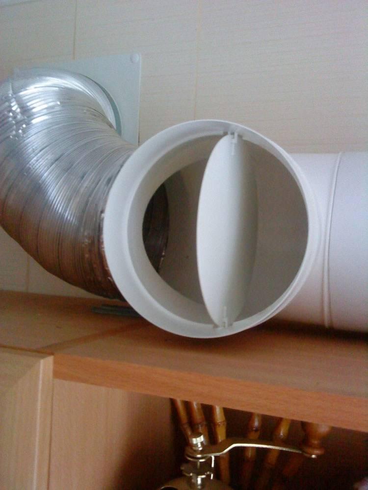 Обратный клапан для вентиляции: устройство, типы, установка